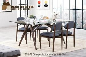 MILTON MID CENTURY MODERN COLLECTION SIDE CHAIR WITH WOOD BACK DINNING SET ON SALE - CALL 905-451-8999(BD-4)