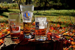 Vintage Authentic Oktoberfest beer glasses