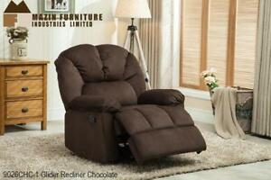 Brown Glider Reclining Chair on Sale  (BD-2446)