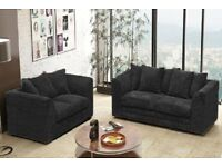 BRAND NEW JUMBO DYLAN FABRIC CORNER AND 3+2 SOFA IN DIFFERENT COLORS ** SAME DAY /NEXT DAY DELIVERY*