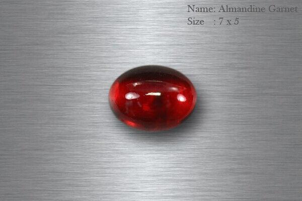 7x5 MM UNIQUE COLLECTION RARE 100% NATURAL PINK RED ALMANDINE GARNET OVAL CAB !!