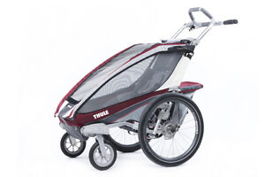 Chariot Thule CX1 + Stroll - Burgundy