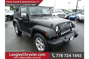 2011 Jeep Wrangler Sport w/ 3.8L Manual & 2Door
