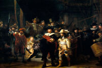 A wonderful print of Rembrandt's NIGHTWATCH with a new frame