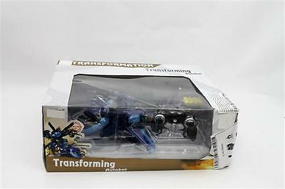 RC Car Blue Robot Helicopter Remote Control Transforming Autobot