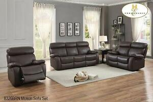 GENUINE LEATHER MATCH 2PC RECLINING SOFA AND CHAIR MODEL 8326 $1,799.00 SAVE $1000