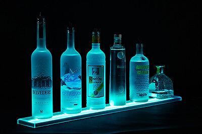 Armana Acrylic New 69in Led Lighted Liquor Bottle Shelf 59 Shelves