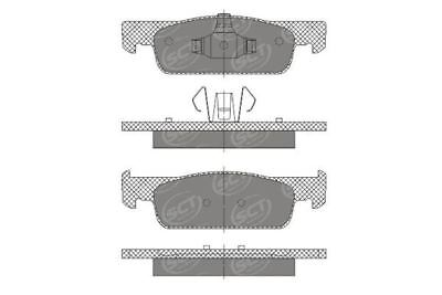 Front Brake Pads for DACIA, RENAULT