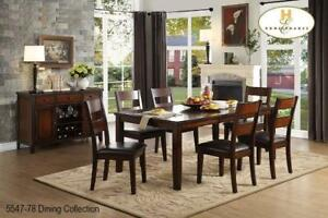 Wooden Dining Set with 6 Chairs (MA700)