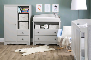 South Shore Furniture Angel Soft Grey Changing Table with Drawer