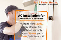 """AC Installation Starting From $3000"""