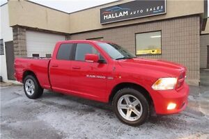 2012 RAM 1500 Sport, 4WD, Bluetooth, Hitch, Dual Exhaust