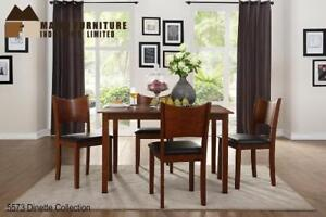 Dining Set with curved back side chair  (MA332)
