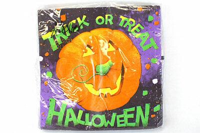Trick Or Treat Confetti School Party Pumpkin Jack O Lantern Halloween Napkins - School Treats Halloween Party