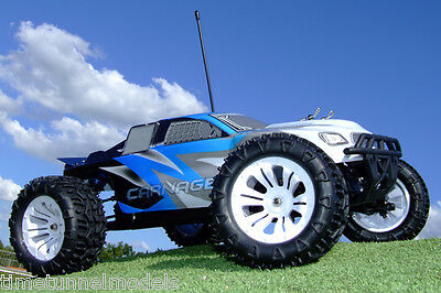FTX Carnage 1/10 Ready Built 2.4Ghz Truggy 4WD FAST Waterproof w/Bat (Brushed)