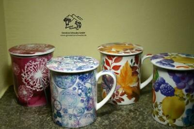 Teetassen mit Sieb und Deckel