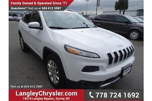 2014 Jeep Cherokee Limited w/Navigation, Leather Int. & Sunroof