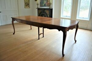 Antique Vintage French Dining Table with 3 leaves