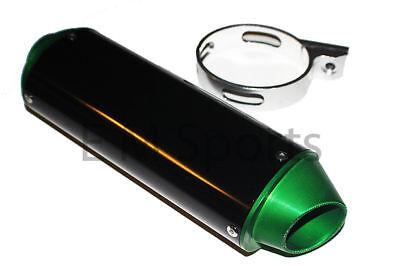 110cc Dirt Pit Bike CNC Black Green Muffler Exhaust Pipe For Kawasaki KLX110