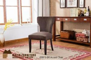 Brown velvet Sculpted Profile Dining Chair (MA425)