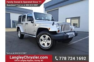 2011 Jeep Wrangler Unlimited Sahara LOCALLY DRIVEN & ACCIDENT...