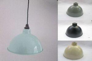 8-034-CURVADO-Industrial-Fabrica-Vintage-Retro-Estilo-Antiguo-Lampara-Colgante