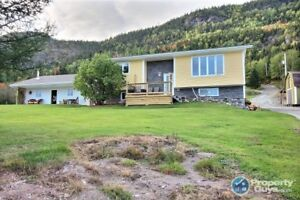 Waterfront, updated split entry with 2 beds/1.5 bath