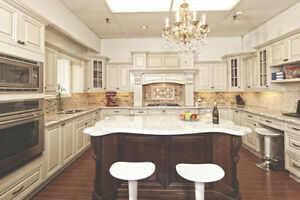 Antique White solid wood kitchen on SALE!! get FREE quote!!