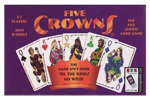 FIVE CROWNS Rummy Style family Card Game 5 suited (makers of SET) NEW/SEALED