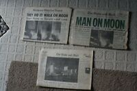 Moon Landing Newspapers - Kitchener Record, Globe&Mail