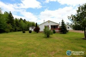 Open concept, 2 bed/1.5 bath home on almost 1 acre