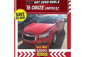 2016 Chevrolet Cruze Limited LT **GREAT NEW CLEARANCE PRICE**