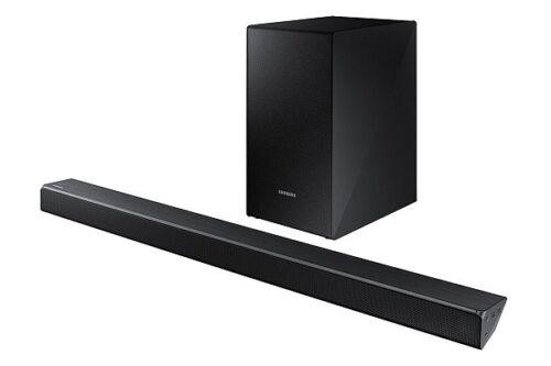 "Samsung 2.1-Channel Soundbar System with 6-1/2"" Wireless Subwoofer and Digital Amplifier Black HW-N450/ZA"