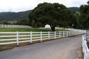 PVC Vinyl 4 Rail Rural Ranch Fence Noosa Area Preview