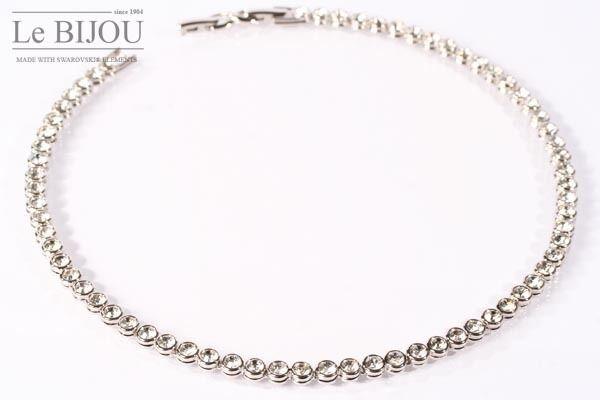 LE BIJOU Swarovski Elements Damen Halskette Collier Tennis - Collier crystal