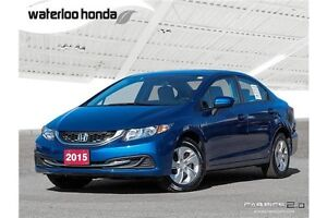 2015 Honda Civic LX One Owner with Factory Warranty!