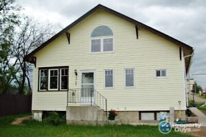 Located on large lot, 4 bed/1.5 character home