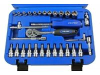 "US PRO by BERGEN Tools 33pc 1/4"" Super Lock Socket Set,"