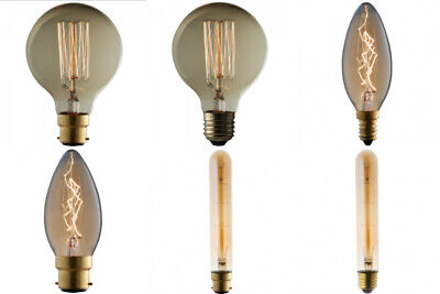 4 or 6 x TCP Vintage Rustic Filament Light Bulb  Edison / Bayonet / E14 E27 B22