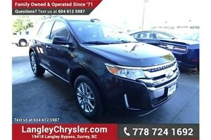 2013 Ford Edge Limited w/Leather Interior & Safety Rear Camera