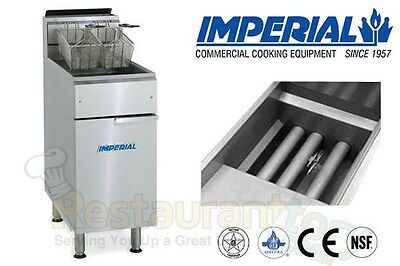 Imperial Commercial Fryer Gas-tube Fired Fry Pot Natural Gas Model Ifs-40
