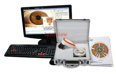 NEW 5.0 MP High Resolution USB Eye Iriscope Iridology Camera & English Software