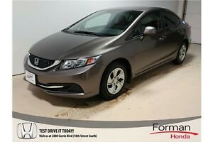 2013 Honda Civic LX - Honda Certified | LOW KMs | Nice!