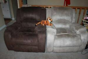 Suede reclining chairs
