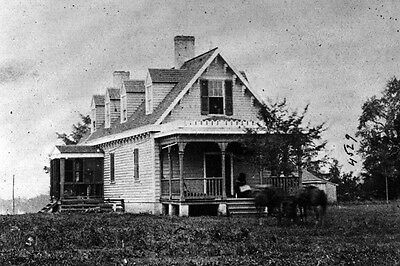 New 5X7 Civil War Photo  Haxalls House  Used As Hospital After White Oak Swamp