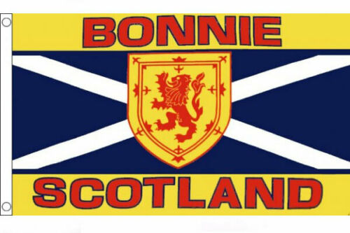 BONNIE SCOTLAND FLAG 5' x 3' Scottish St Andrews Cross