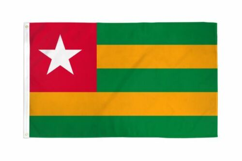 The Flag of Togo , drapeau du Togo, 3 x 5 ft Condition is BRAND NEW !