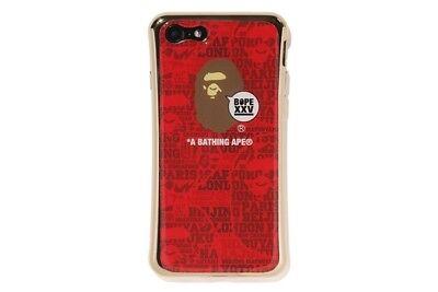 Authentic APE BAPE GIZMOBIES BAPE XXV I PHONE 7 8 CASE RED FREE SHIPPING