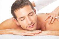 Younger male offering relaxation massage
