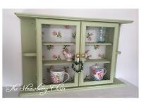 Shabby chic display wall cabinet